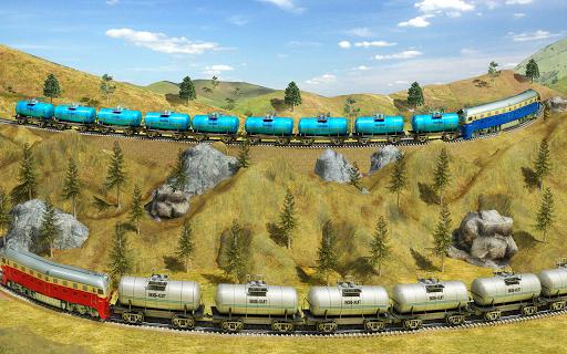 Indian Train City Pro Driving- Oil Tanker Train  screenshots 9