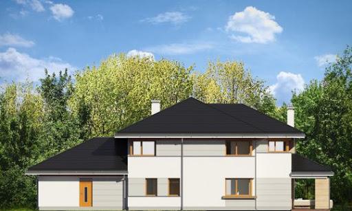 Dom z widokiem - Elewacja tylna