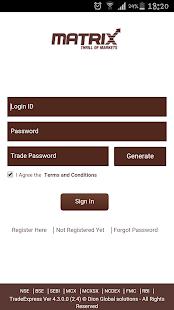 Online Trading - Matrix Mobile - náhled