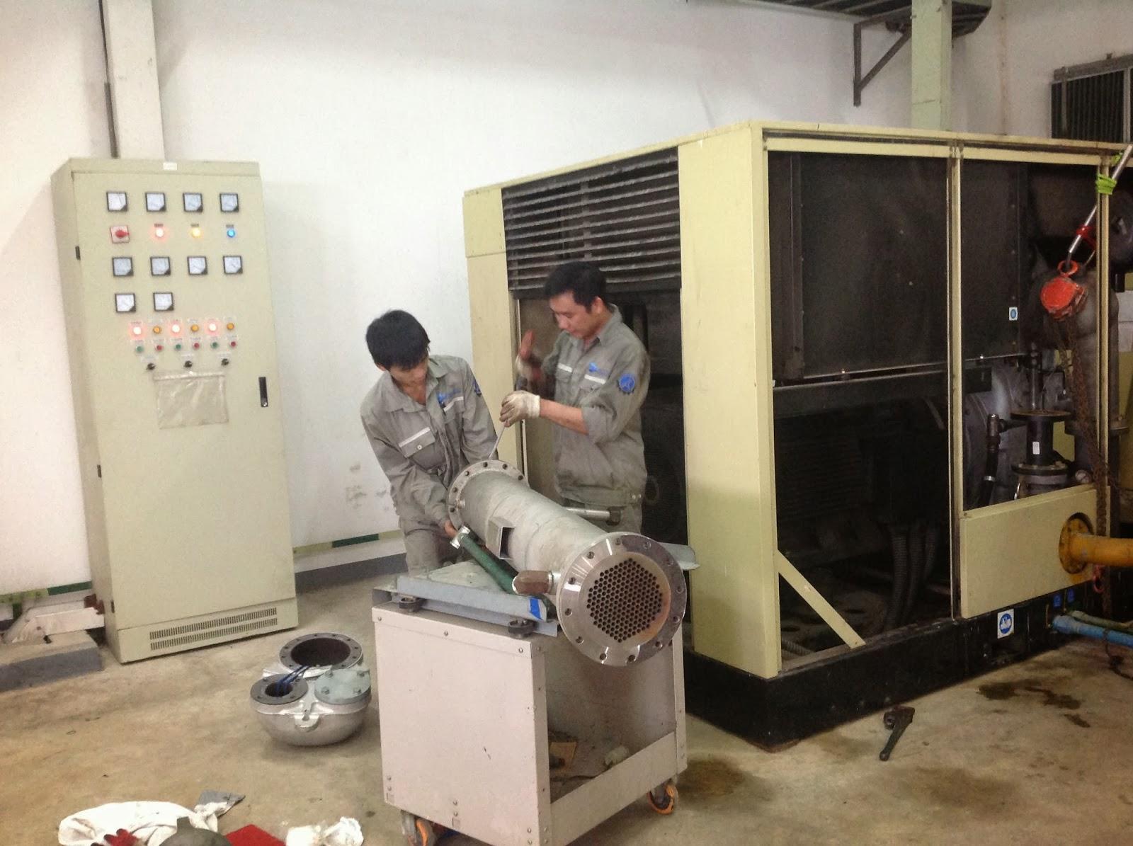 Hình ảnh minh họa: cách sửa máy và bảo dưỡng máy nén khí