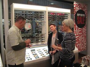 Photo: David and Pat shop for sunglasses before facing the AZ sun.