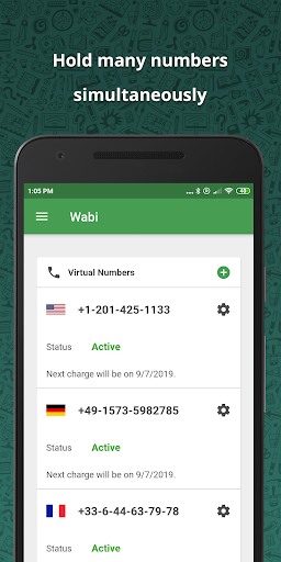 wabi - virtual number for whatsapp business screenshot 3
