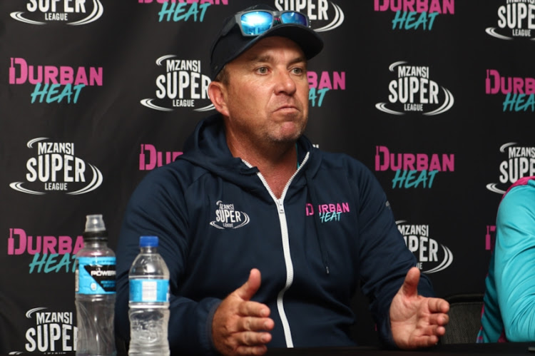 Head Coach Grant Morgan during the Durban Heat Media Opportunity at Kingsmead Cricket Stadium on November 27, 2018 in Durban, South Africa.