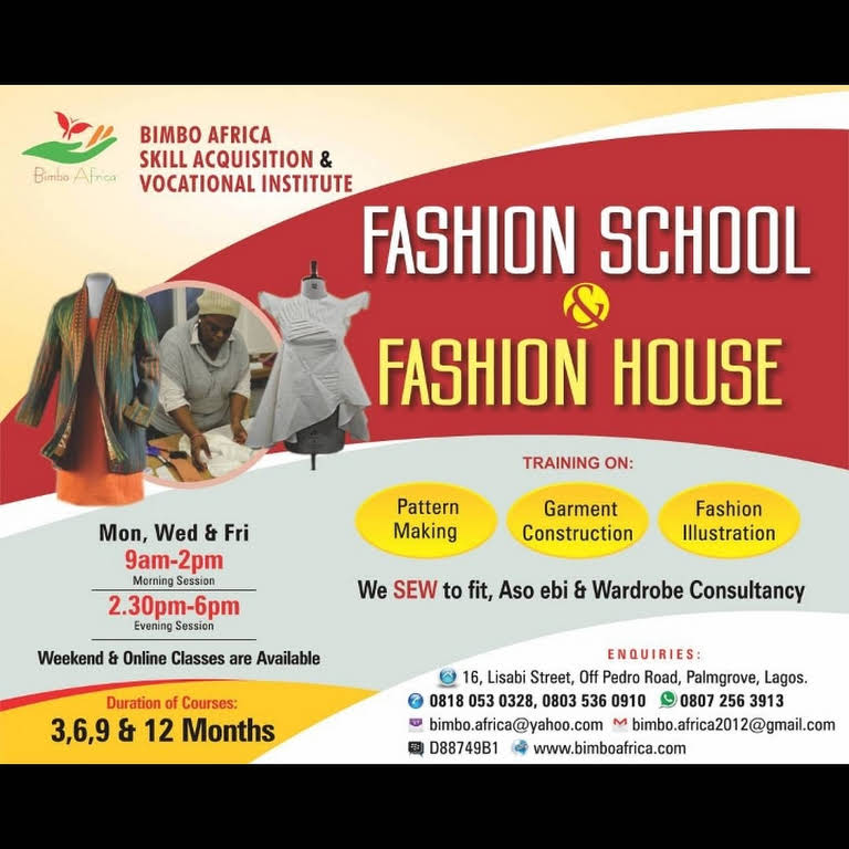 Bimbo African Enterprises Fashion Design School In Lagos