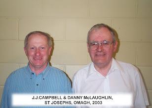 Photo: Jim Joe Campbell & Danny Mclaughlin, St Josephs, Omagh