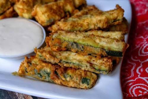 """Fried Zucchini""""This is a good, very basic recipe on how to fry..."""