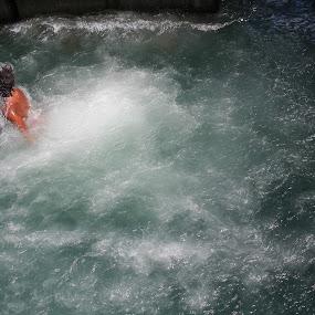 Swish Splash by Karina Zawilinski - Novices Only Portraits & People ( swimming, hair, bubbles, splash, water, summer, jump, kids )