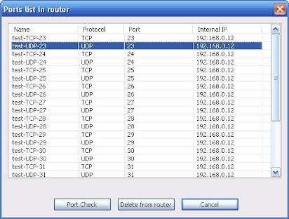 Port forward checking software