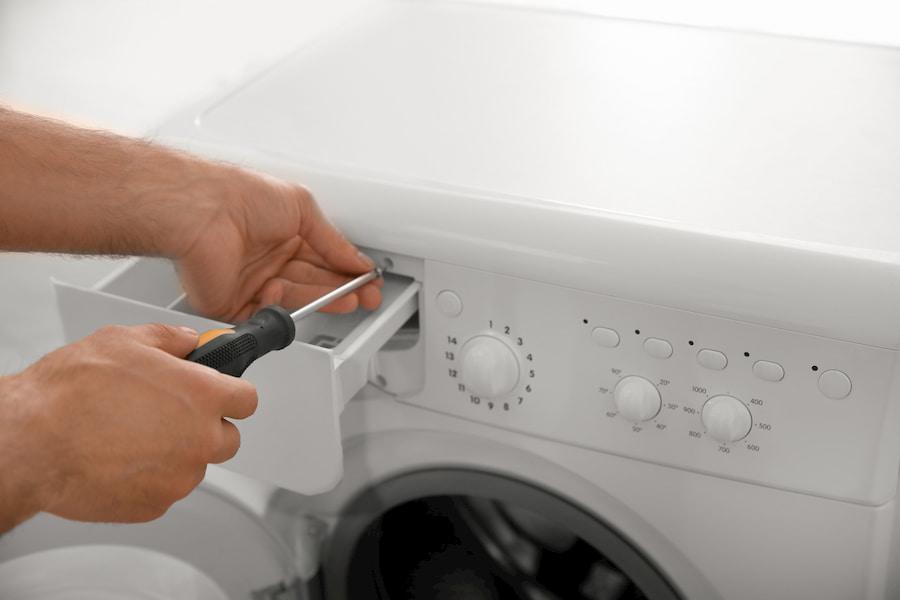 демонтаж порошкоприемника стиральной машины
