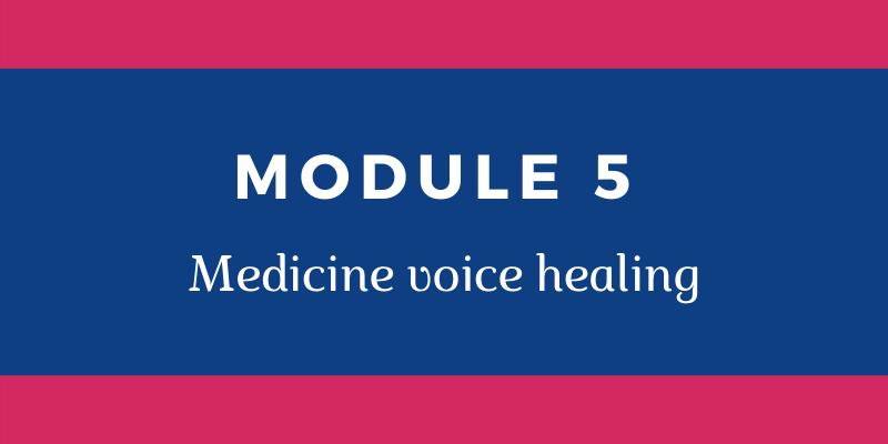 Medicine voice healing