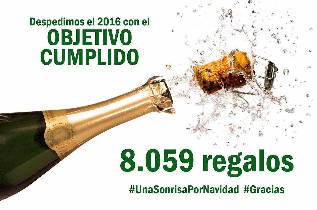 Obetivo cumplido, se pasaron de los 8000 regalos, y estamos orgullosos en Haber colaborado, con nuestras furgonetas solidarias de alquiler en Zaragoza
