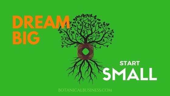 Dream Big - Start Small - Botanical Business