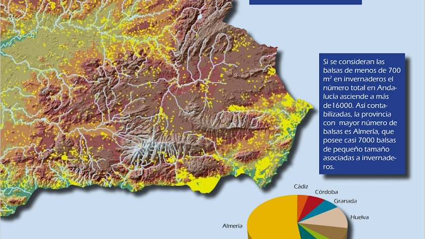 Mapa que revela la proliferación de pequeñas balsas en la provincia de Almería