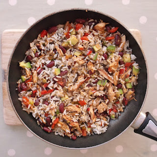 Warm Mexican-Style Rice Salad with Leftover Turkey