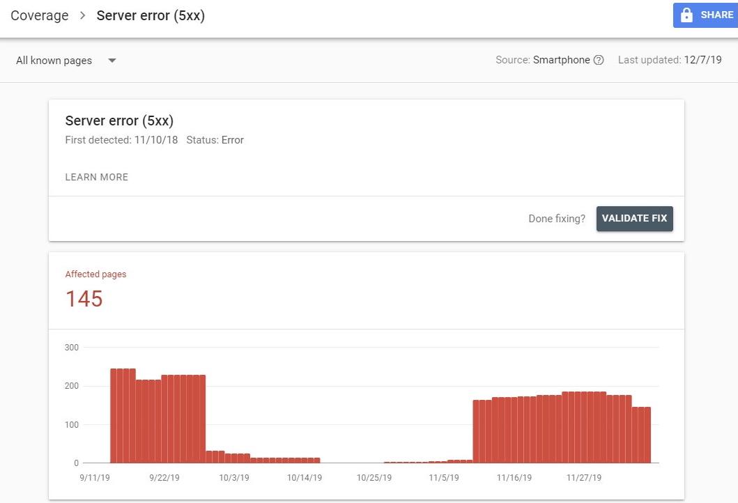 Technical SEO Server Errors (5xx)