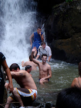 Photo: El Yunque - Waterfall - Josh goes into the bitter cold