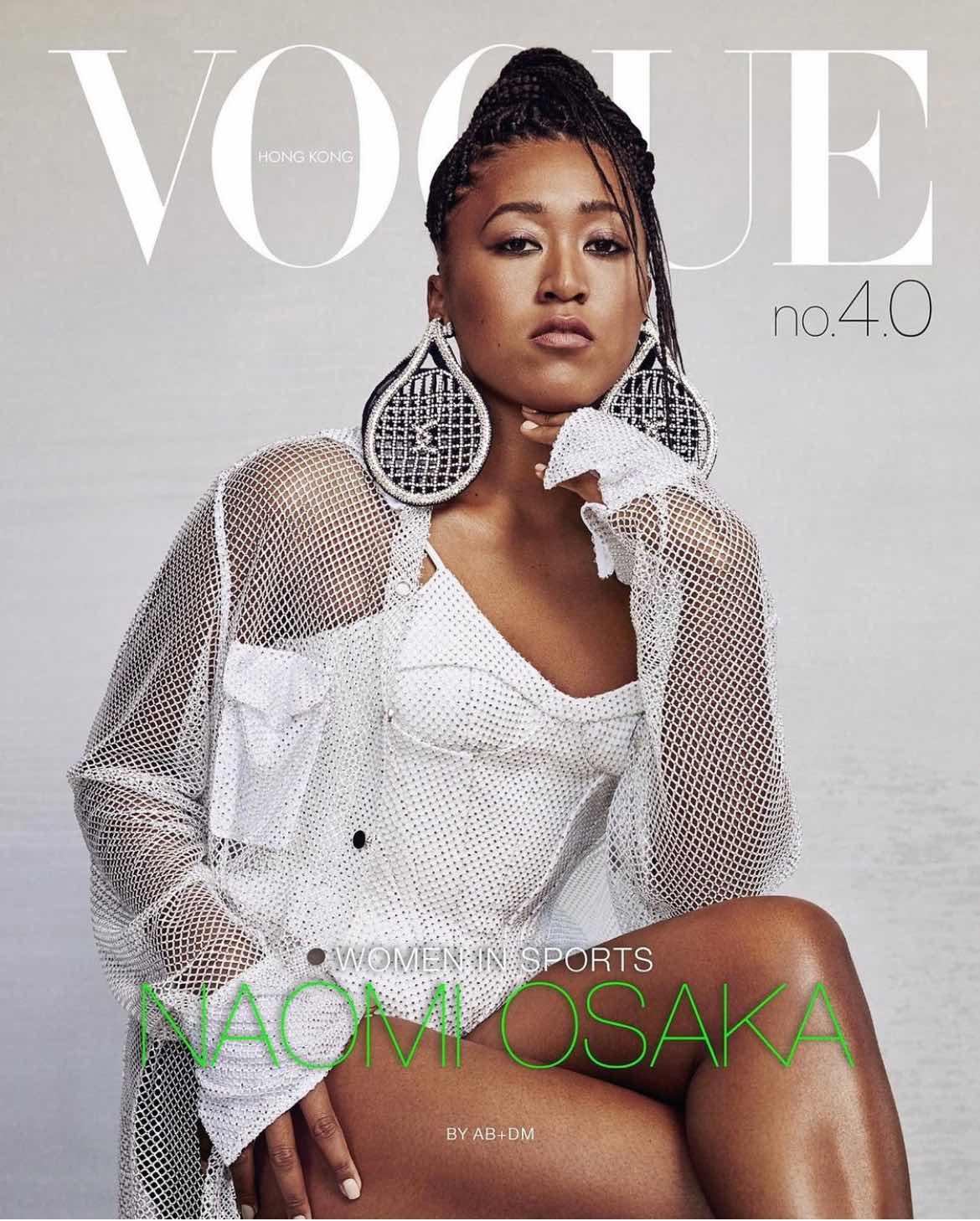 Naomi Osaka in David Koma SS21Tennis Racket Earrings