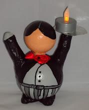 """Photo: """"Kerst Butler""""  zwart/grijs"""