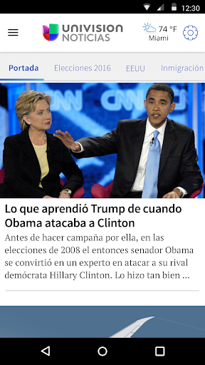 Univision Noticias Screenshot