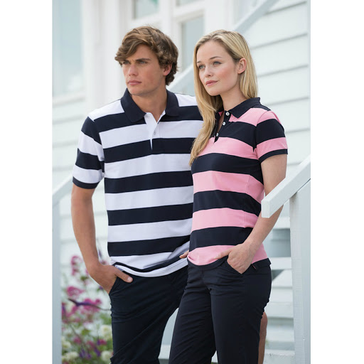 Front Row Striped Polo Shirt