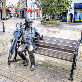 by Betty Taylor - City,  Street & Park  Street Scenes ( statues, street photography, street scenes,  )
