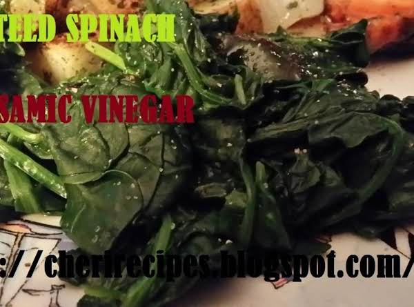 Sauteed Spinach In Balsamic Vinegar Recipe