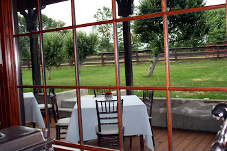 Photo: Back Deck of Conference Center overlooking the orchard