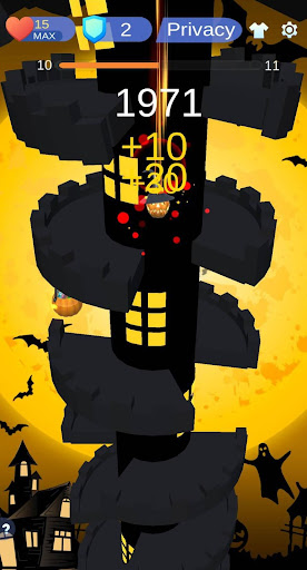 Helix Jump Halloween Monster  captures d'écran 1