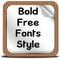 Bold Free Fonts Style icon