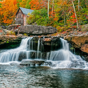 Glades Creek  by Charles Hardin - Landscapes Waterscapes ( glades creek, autumn, west virginia, glades creek gist mill )
