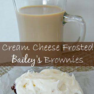 Cream Cheese Frosted Baileys Brownies.