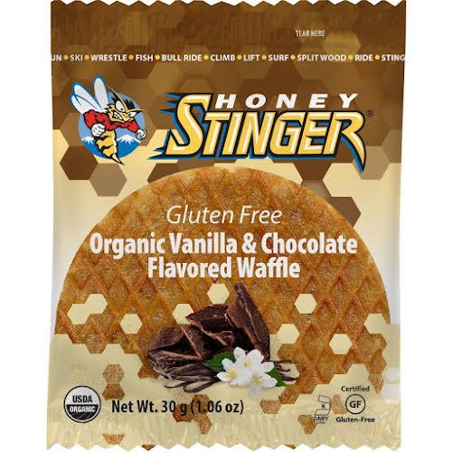 Honey Stinger Gluten Free Organic Waffle: Vanilla and Chocolate, Box of 16
