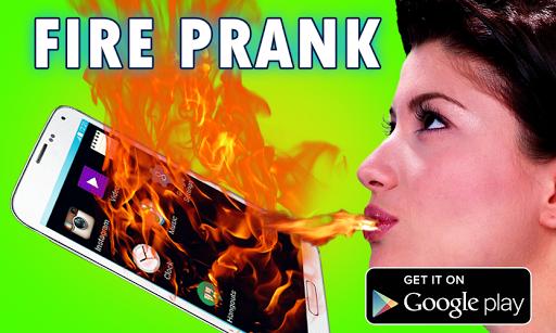Fire Prank On Phone Screen