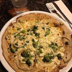 Gluten free broccoli and feta pizza!