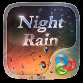 Night Rain GO Launcher Theme