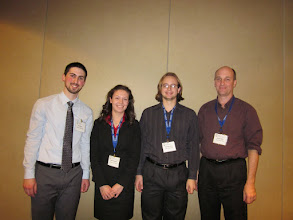 Photo: Curt, Laura, Chris, David, MAA Poster Session, JMM New Orleans, January 2011