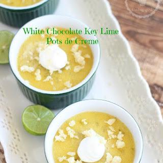 White Chocolate Key Lime Pots de Creme