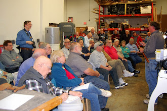 Photo: A nice turnout for our demonstrator Chuck Engstrom.