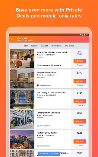 Screenshot 6 for Kayak's Android app'