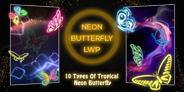 Tải Game Neon ButterFly Live Wallpaper
