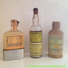 Photo: Issus d'une collection : flask de Voiron Jaune années 1950, vieux flacon de Verte et dentifrice fabriqués à Tarragone ! (merci à Gabriel)