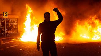 Uno de los incendios de esta noche.