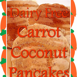 Dairy Free Carrot Coconut Pancakes.