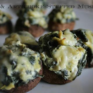 Spinach and Artichoke Stuffed Mushrooms