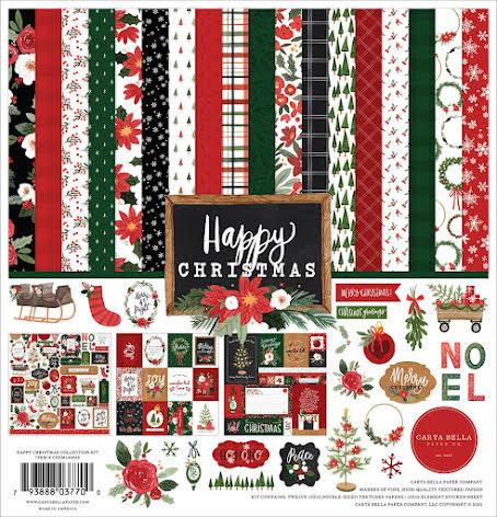 Carta Bella Collection Kit 12X12 - Happy Christmas