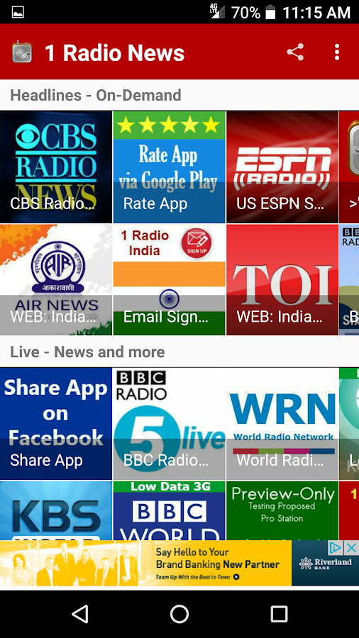 1 Radio News - World News Live and On-Demand- screenshot