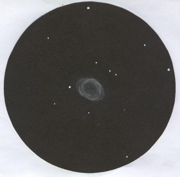 Photo: M57 dans la Lyre, dans le T406 à 175X, le 10 août 2007