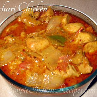 (Achari Chicken Curry, Spicy Pickled Chicken Curry, Chicken in Pickling Spices, Achari Murg)