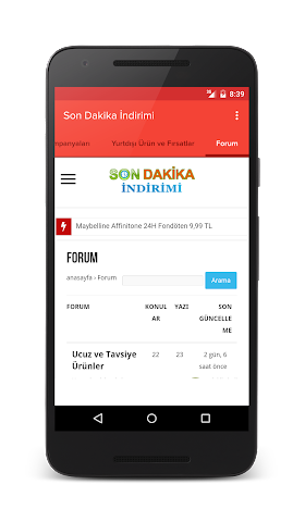 android Son Dakika İndirimi Screenshot 10
