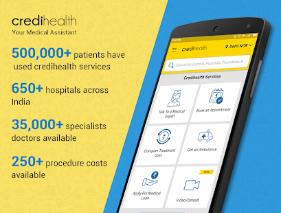 Credihealth - Hospital Appointment, Treatment Cost - Apps en